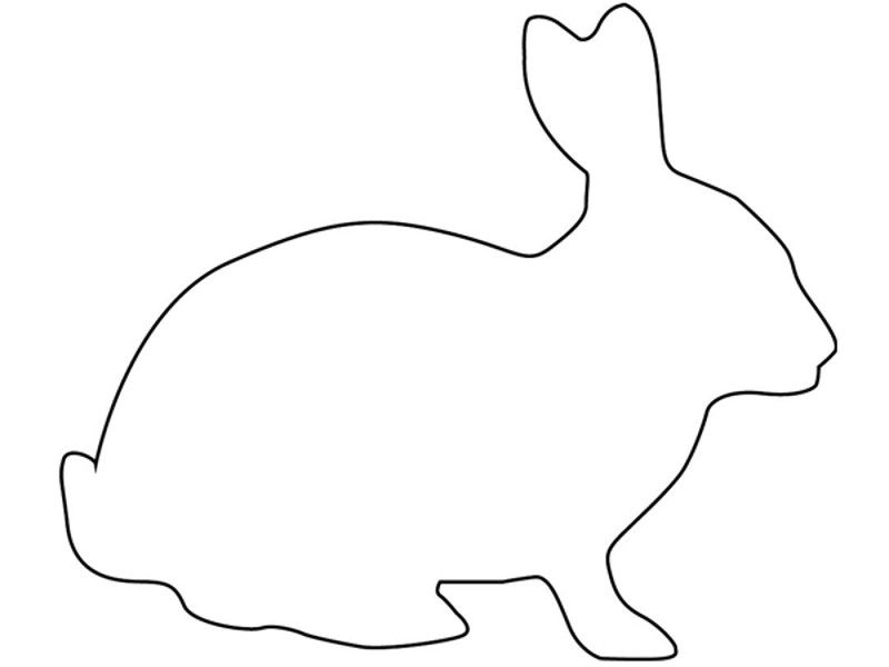 Ostern Basteln Easter Bunny Outline Template