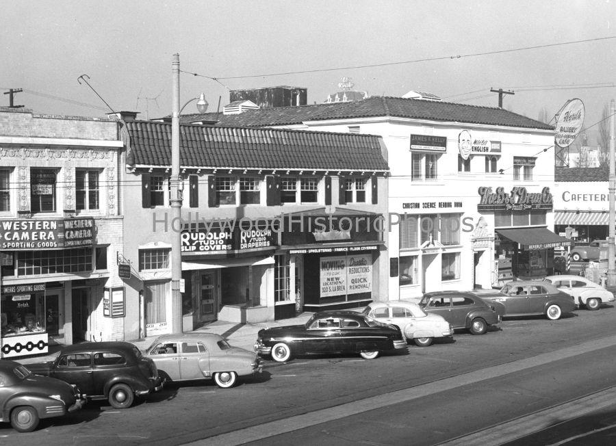 Larchmont Blvd Beverly Blvd Hollywood Ca 1952 Los Angeles History Vintage Los Angeles Ca History