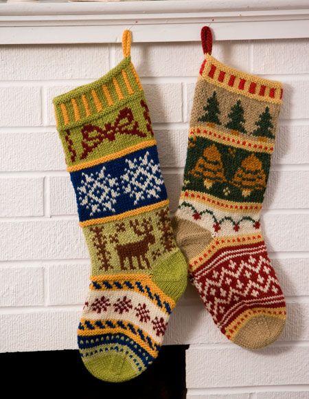 Mix-It-Up Christmas Stranded Stocking Pattern - Knitting Patterns ...