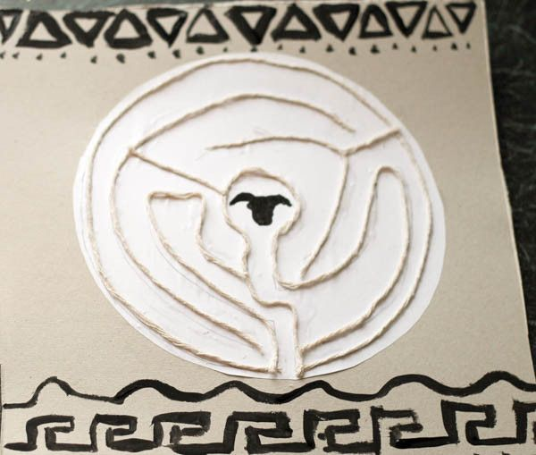 Greek Mythology Inspired Labyrinth Craft to go along with ...