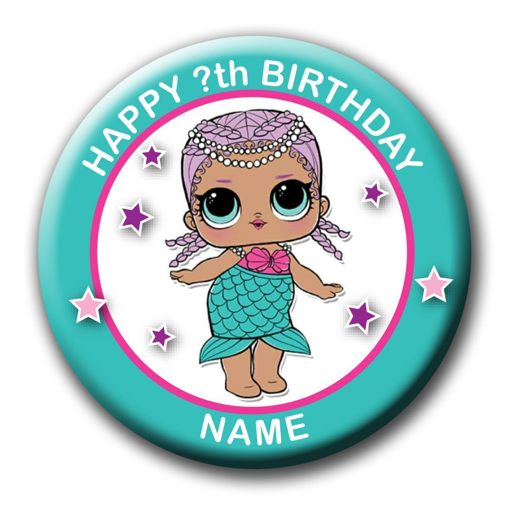 PERSONALISED TROLLS HAPPY BRANCH BIRTHDAY BADGES FRIDGE MAGNETS MIRRORS