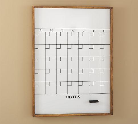 Rustic Home Office Wall Organizer Whiteboard Calendar