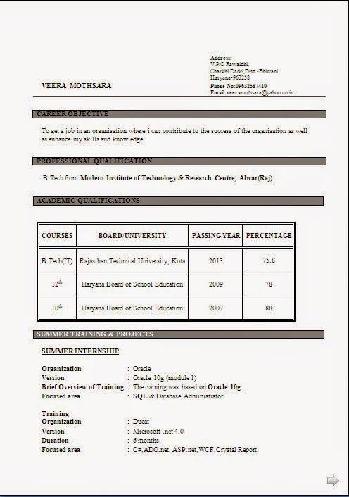 Example Of Curriculum Vitae For Students Excellent Curriculum