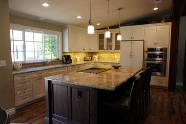 swiss coffee (white cabinets) with Greystone wall color ...