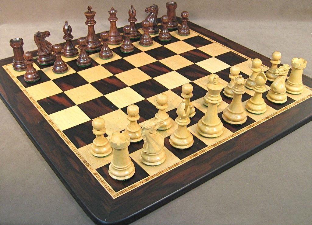 WorldWise Sheesham Exclusive Chess Set 40SE-EBM