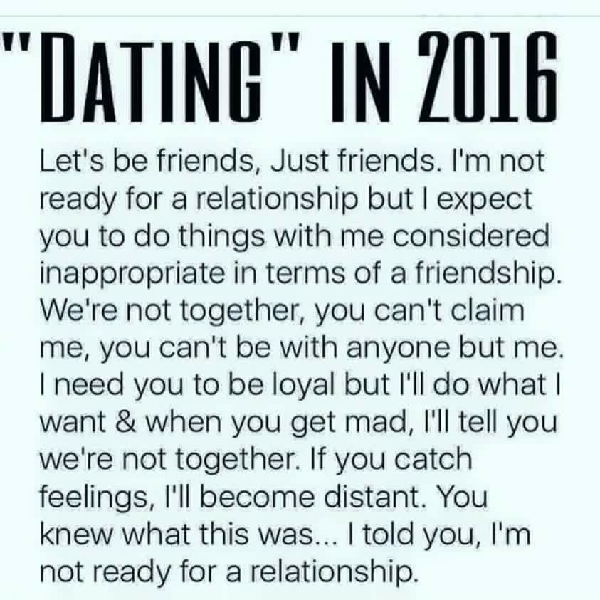 dating rules 2016