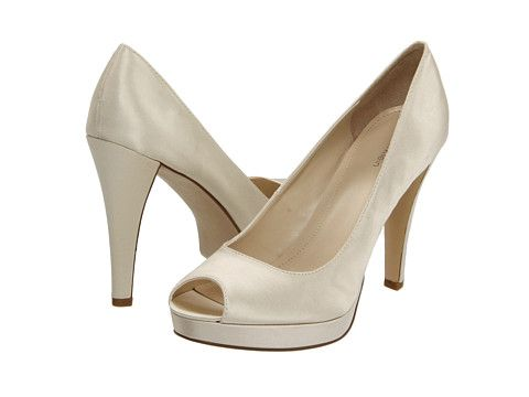 Calvin Klein Sandie Ivory Satin Maybe With A Sparkly Shoe Clip