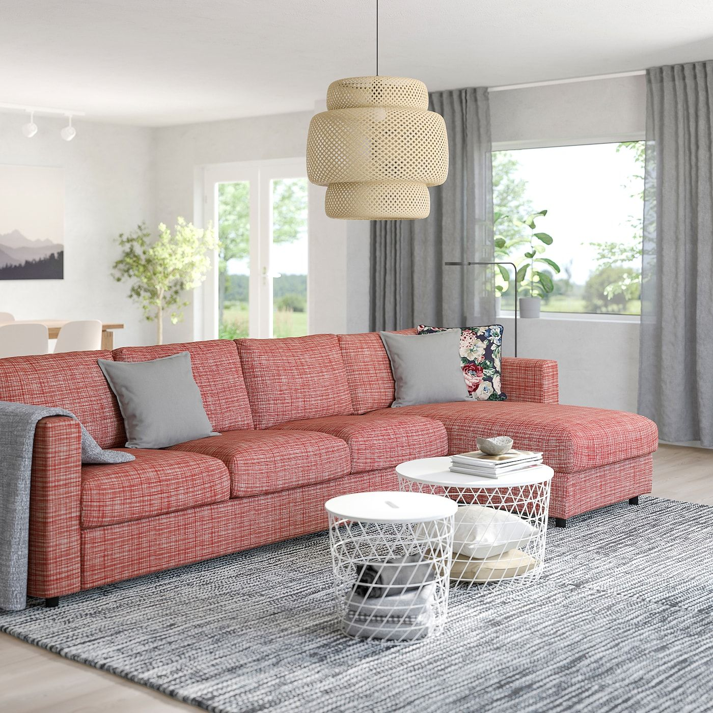 Vimle Sectional 4 Seat With Chaise Dalstorp Multicolor Sofa Bed With Chaise U Shaped Sofa Sofa Back Cushions