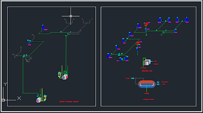 Heating Project AutoCAD Drawings - Boiler Heating dwg
