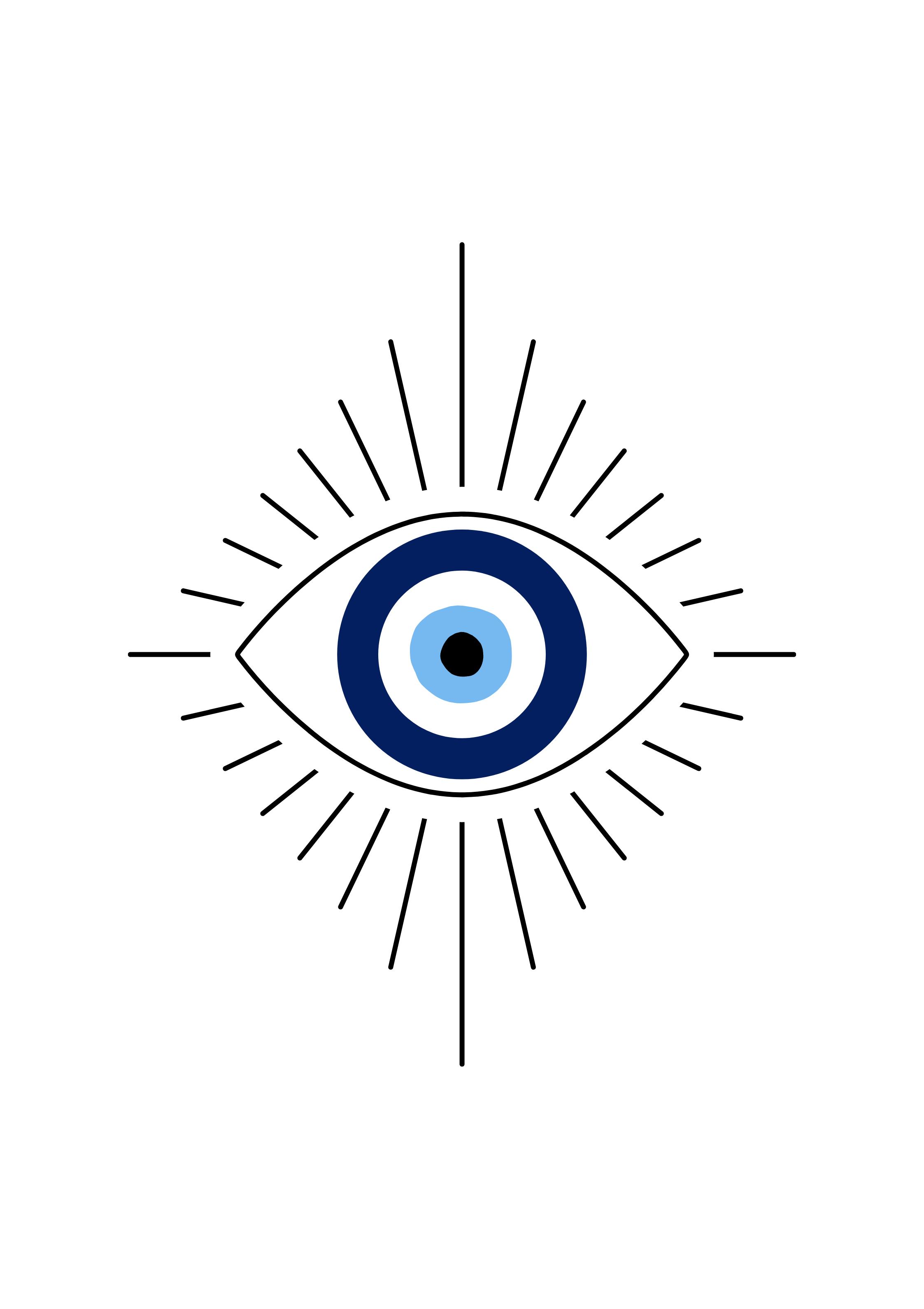 Evil Eye Print Printable Eye Wall Art Boho Decor Digital Download Evil Eye Art Evil Eye Tattoo Eye Print