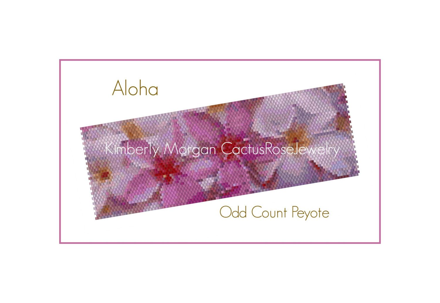 Aloha Odd Count Peyote Pattern Instant Downloading PDF by CactusRoseJewelry on Etsy