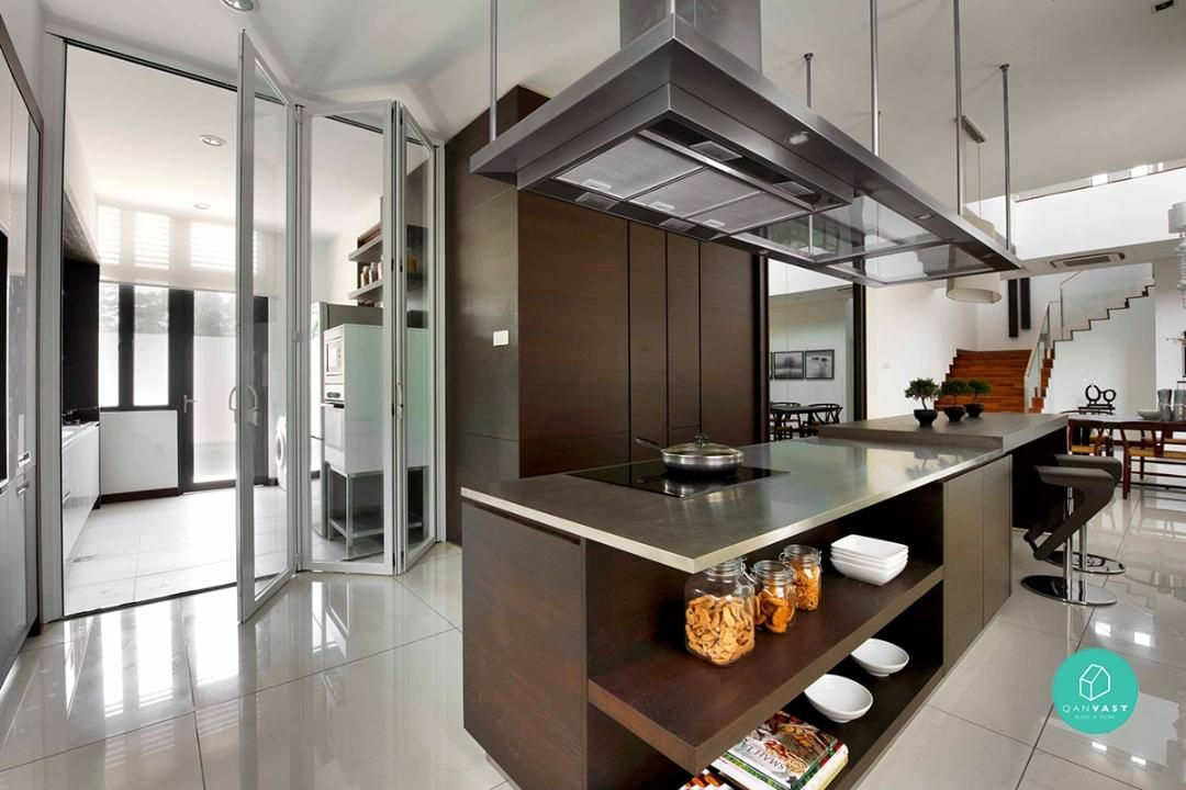 6 practical wet and dry kitchen ideas article qanvast for Kitchen decoration malaysia