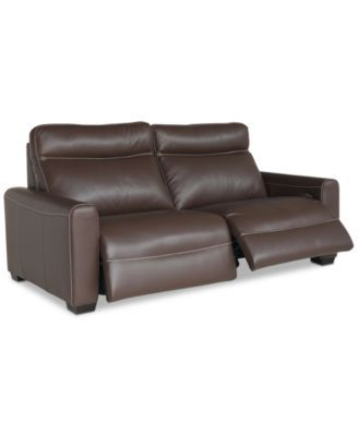 Strange Marzia 78 Leather Sofa With 2 Power Recliners Created For Ncnpc Chair Design For Home Ncnpcorg