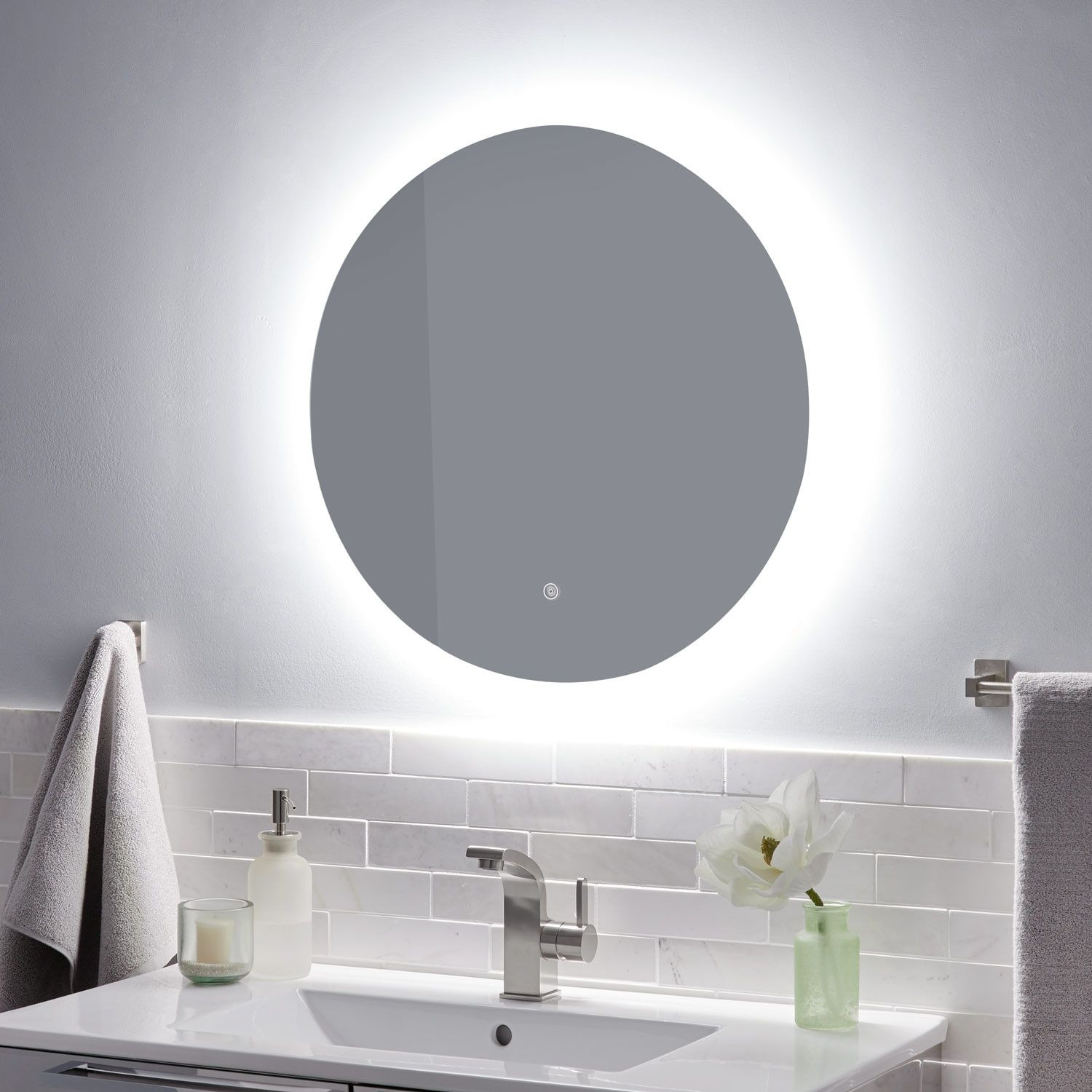 Macmillan Round Led Lighted Mirror