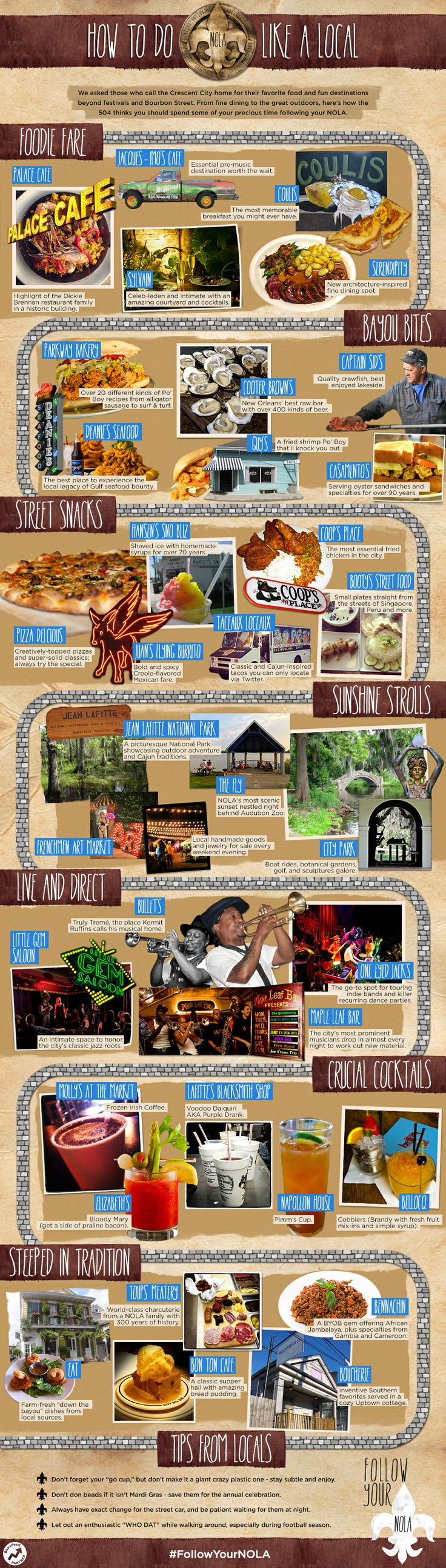 35 Ways To Do New Orleans Like A Local (SO   sorry for the huge graphic!  I didn't know it was going to be so big and that is   a total pet peeve of mine. FBW)