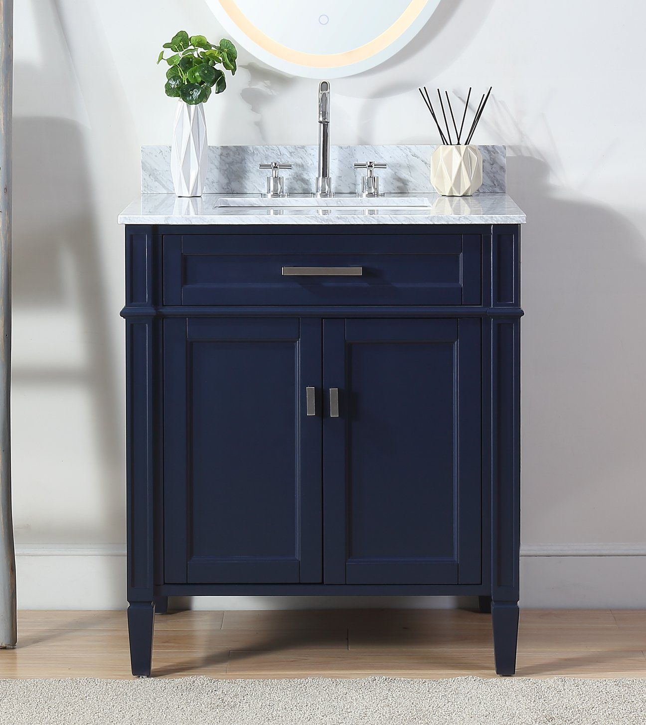 30 Tennant Brand Durand Navy Blue Bathroom Sink Vanity Zk 1808