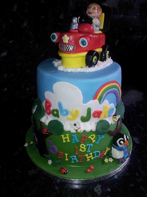 Surprising Baby Jake Cake With Images Jake Cake Cake Tractor Cake Funny Birthday Cards Online Alyptdamsfinfo