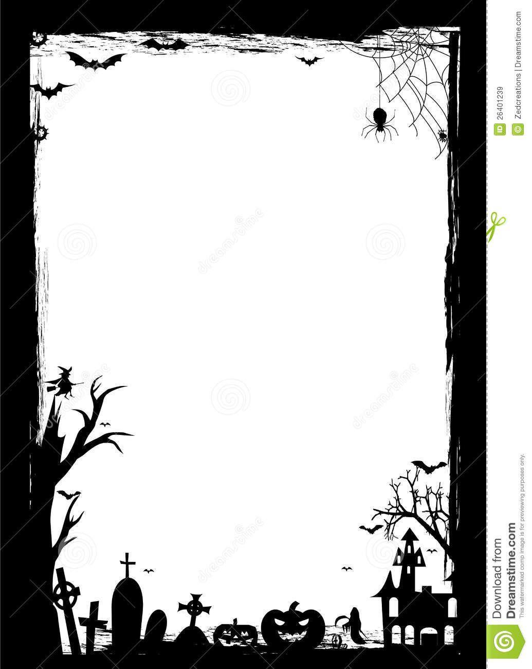 free graphic black and white halloween dark corners google search [ 1035 x 1300 Pixel ]