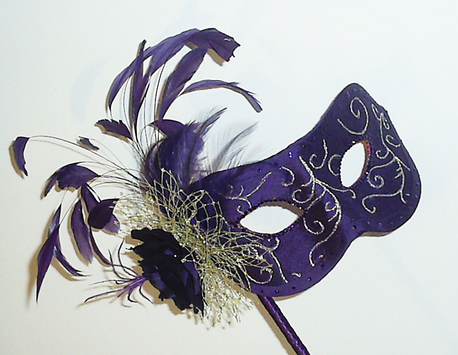 Masquerade mask masquerade mask vine mask metal lace masquerade - Purple And Gold Masquerade Ball Mask