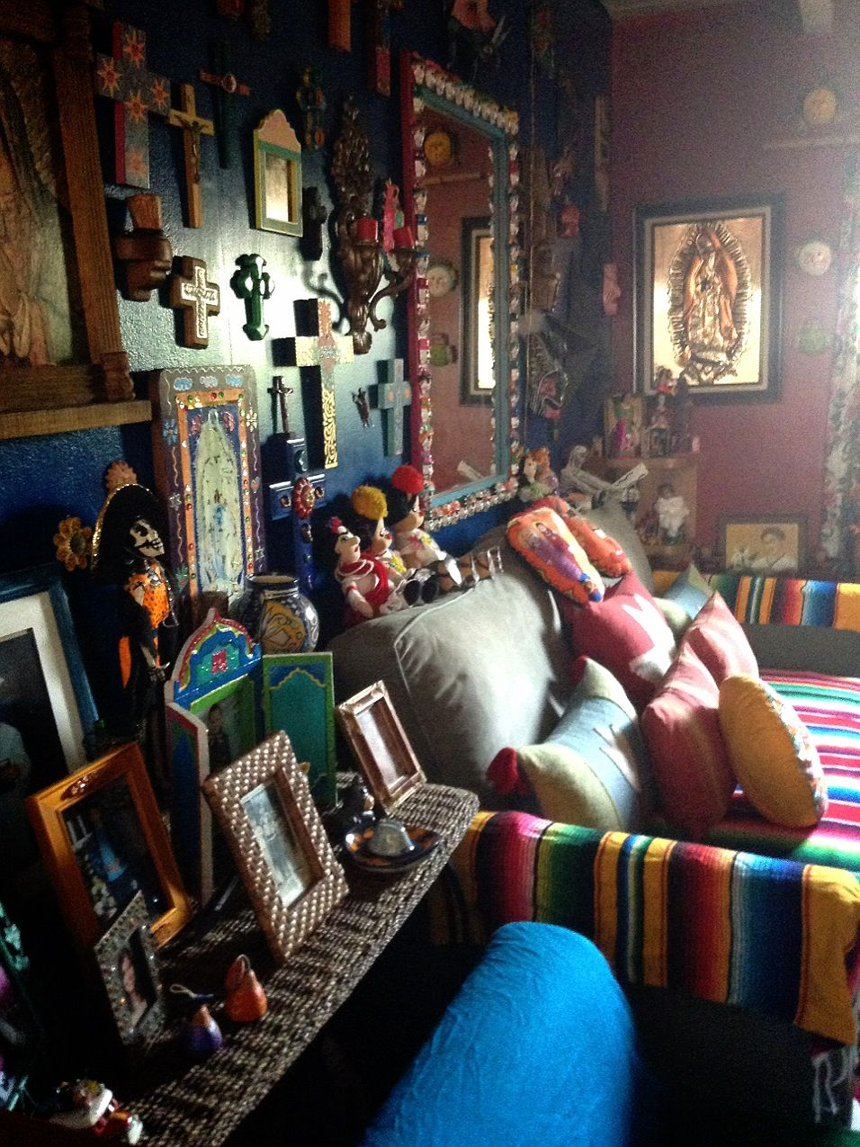 Beautiful mexican decoration living room