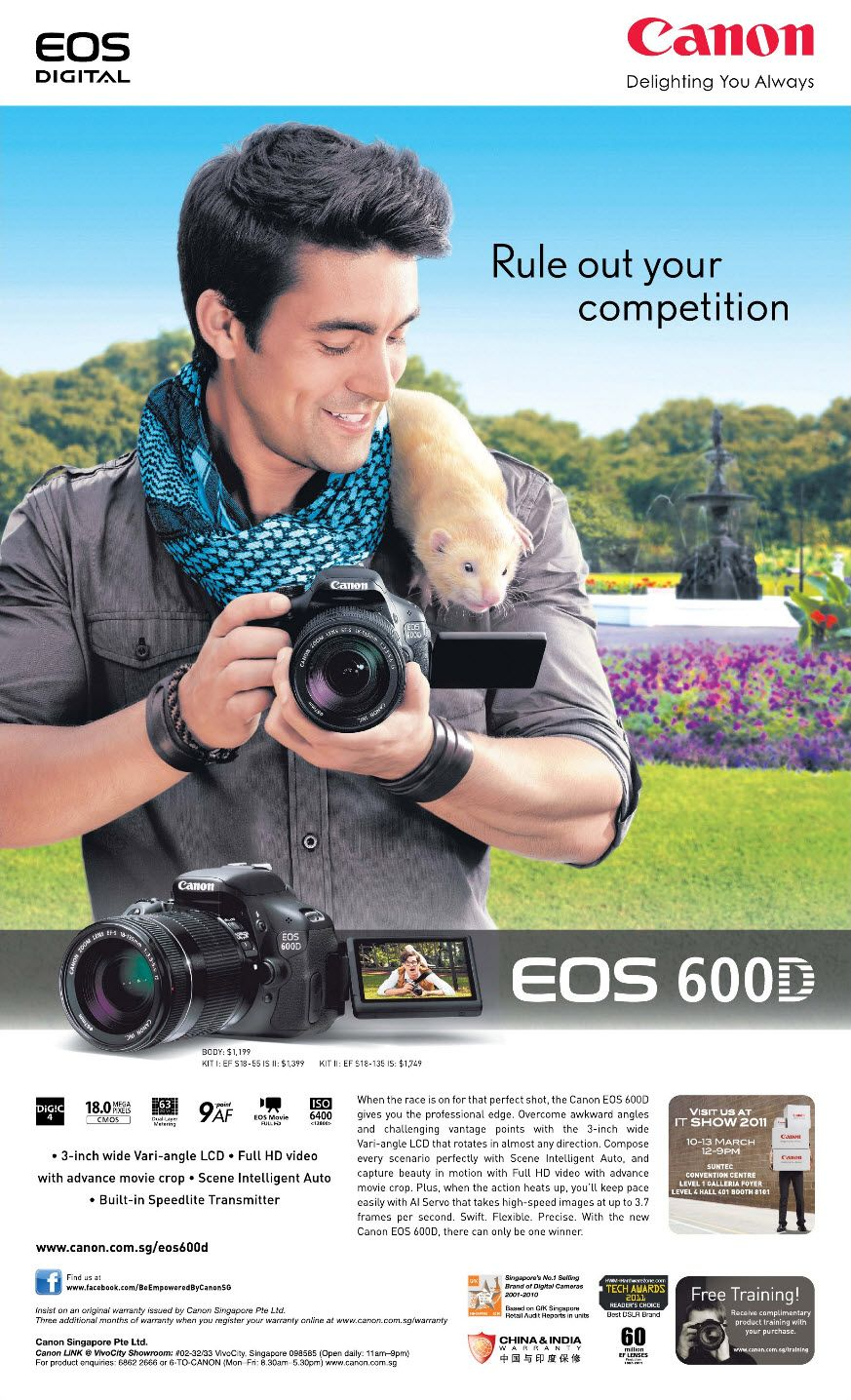 Canon EOS 600D print ad