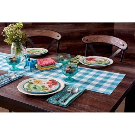 The Pioneer Woman Charming Check Reversible Runner Teal Https Www Amazon Com Dp B01ie7frn0 R Pioneer Woman Kitchen Pioneer Woman Placemats Pioneer Woman