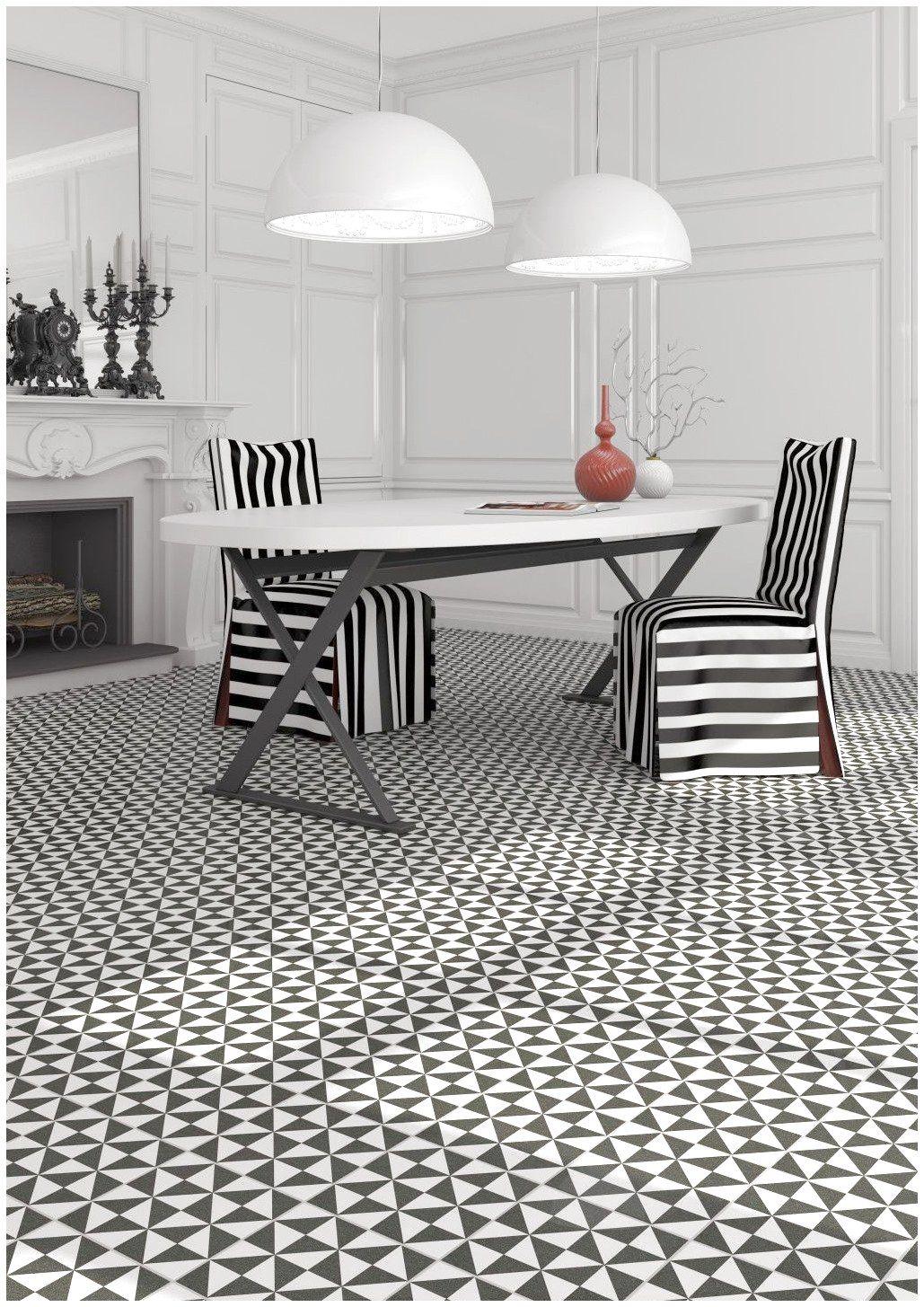 Carrelage Style Carreau De Ciment Noir Blanc Modernflooring