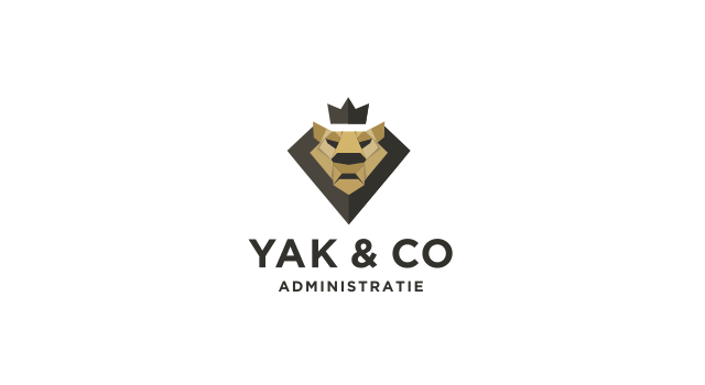 Yak And Co Administratie Origami Lion Financial Administration Company Logo Design