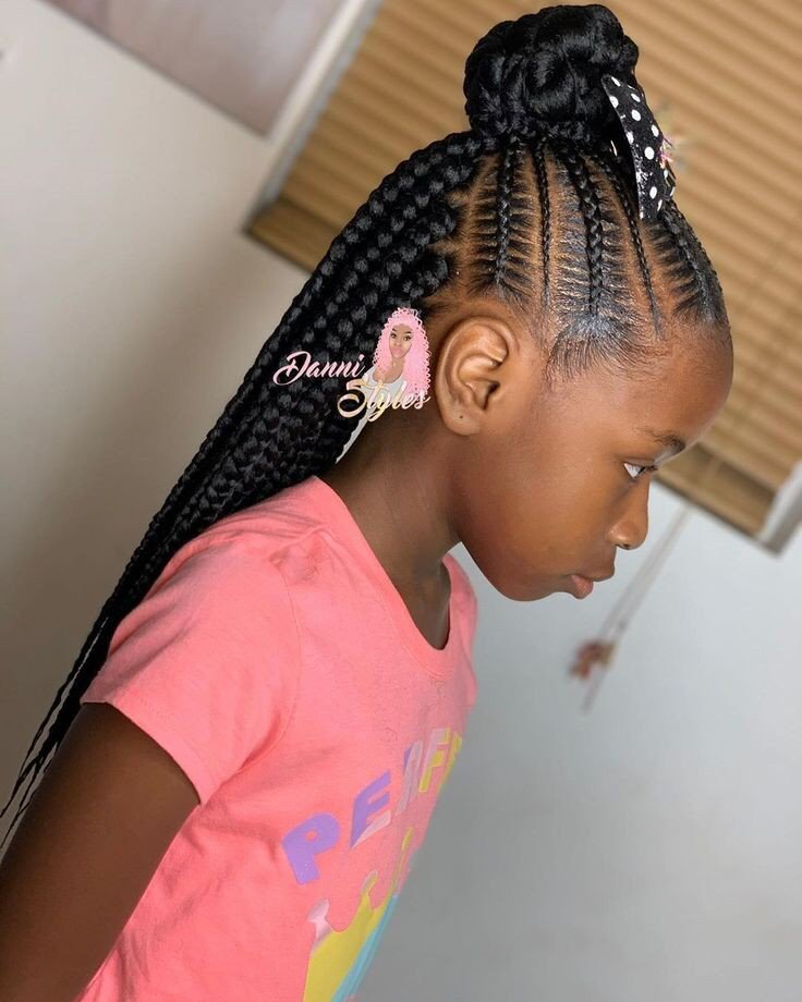 2019 2020 Beautiful Braids For Kids In 2020 Girls Hairstyles Braids Braids For Kids Little Girl Braids