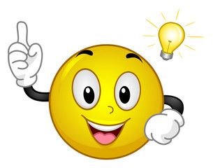 Vector: Smiley Idea Light Bulb Moment | Emoticones emoji, Caras ...
