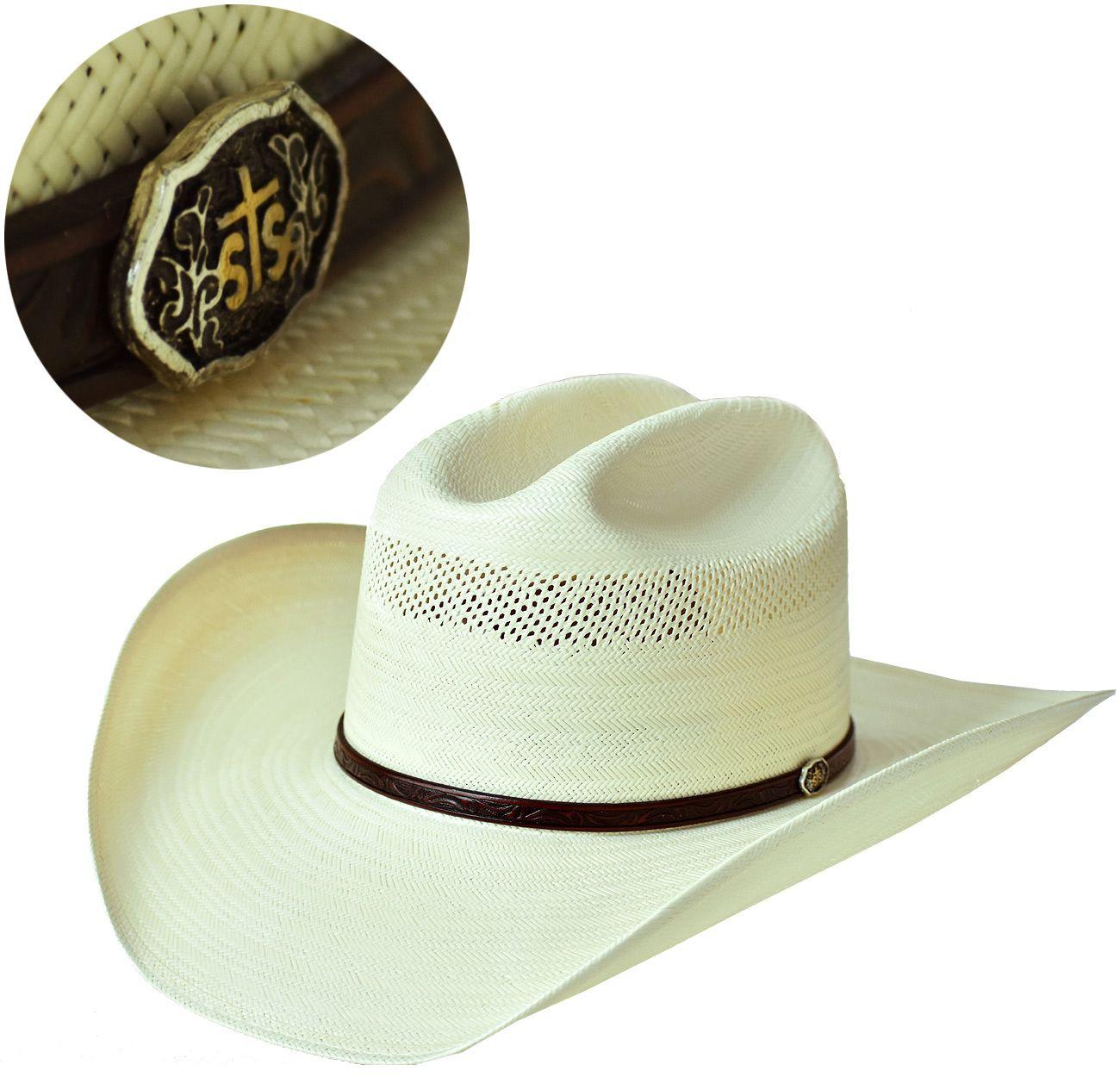 Chapéu de Palha 10X Resistol Cross Tie Chapéu Resistol feito em palha fina de836854ae7