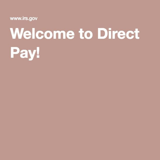 Onetime Online Payment To Irs Direct Pay  Irs Website Information