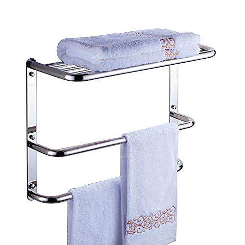 Bathroom Shelf Wall Mounting Rack With 2 Towel Bars Generic Https