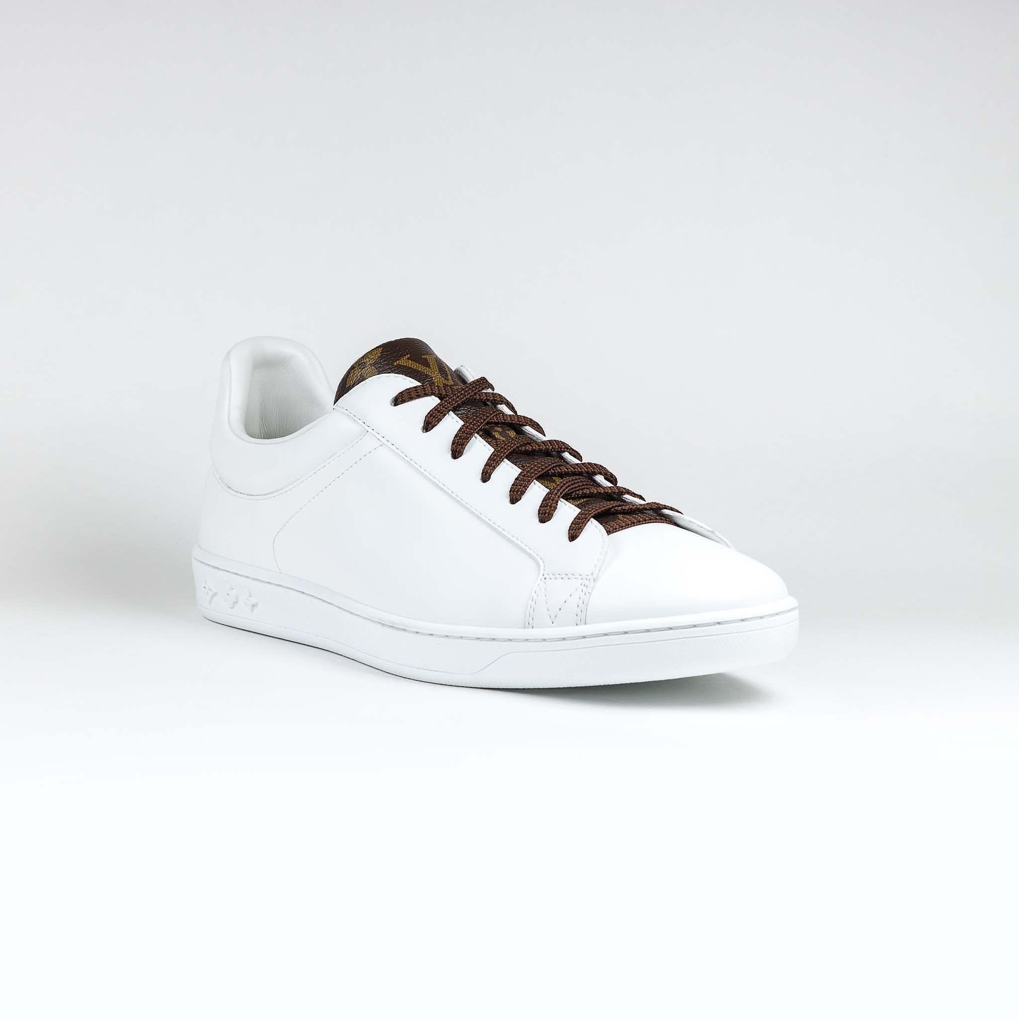 89f3cf7867c13 Louis Vuitton Luxembourg Monogram Brown White Sneaker