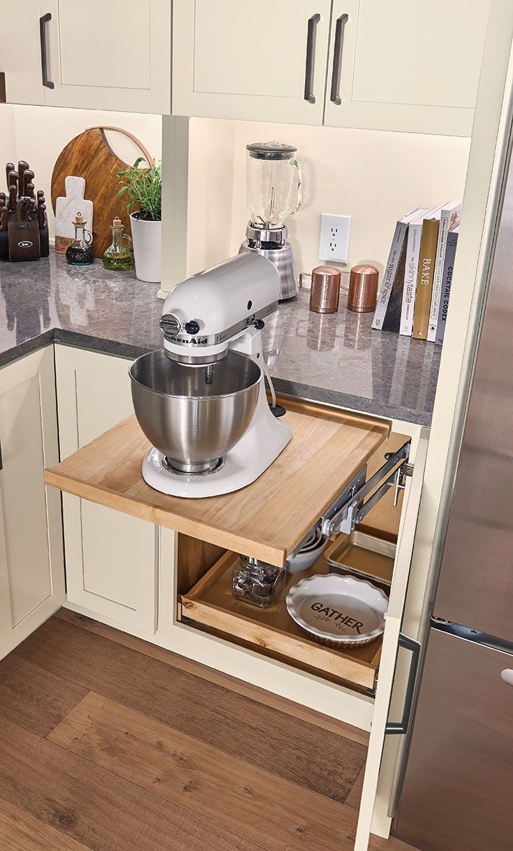 Best Base Mixer Shelf In Cannon Grey Cherry Kitchen 400 x 300