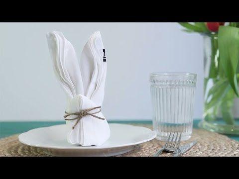 Näin onnistut: Taittele pupu lautasliinasta - K-ruoka