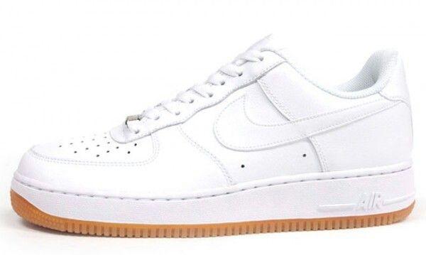 Whitewhite Nike Air Force 1 w gum sole | Nike shoes air