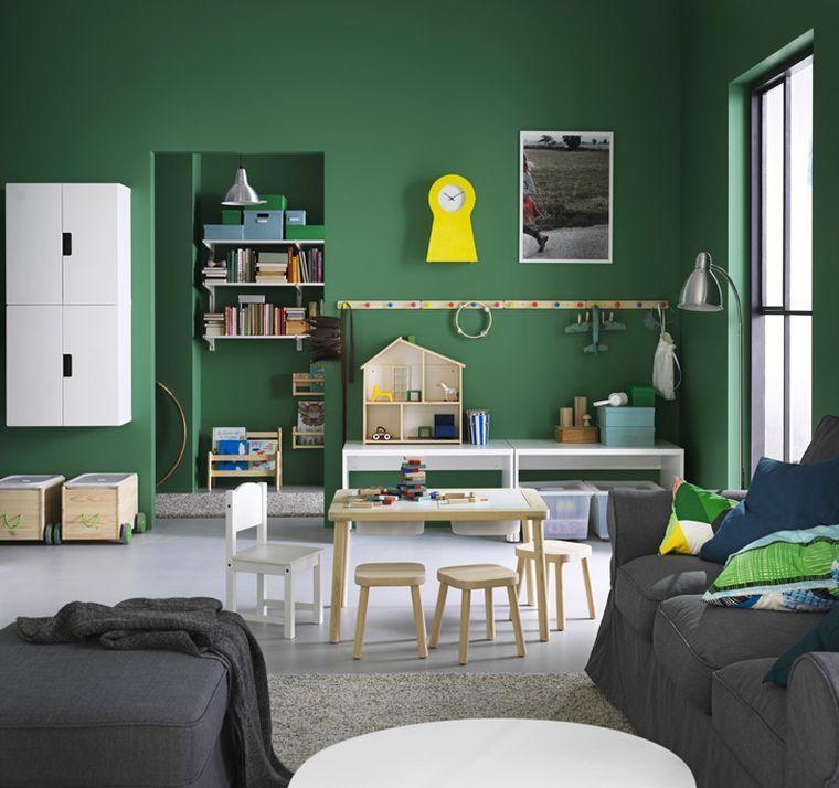 idee rangement chambre enfant avec meubles ikea