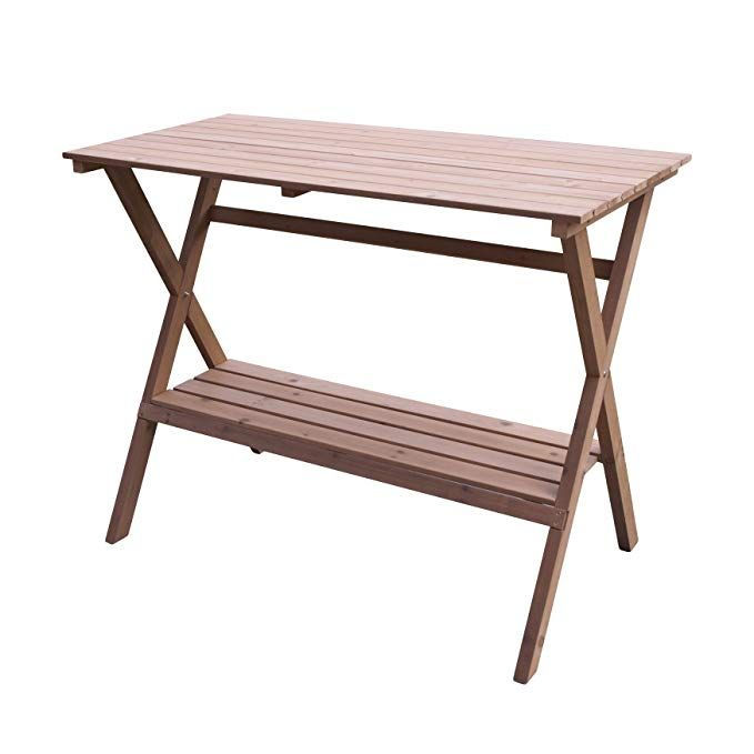 Amazon Com Merry Garden Fir Wood Potting Bench And
