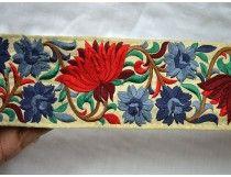 الصلب رمادي مطرز الشريط الزخارف الحرير الزخرفية ساري الحدود Decorative Trim Fabric Trim Sewing Ribbon