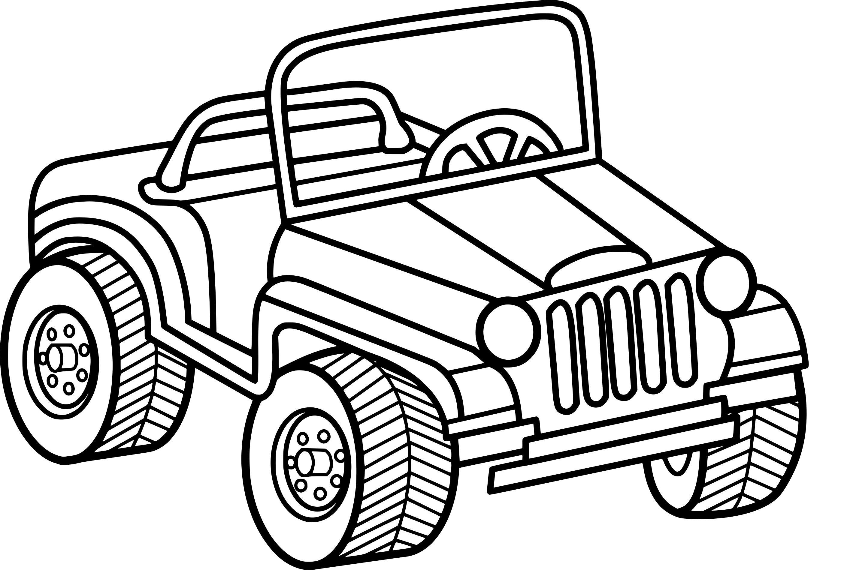 Resultat De Recherche D Images Pour Dessin Jeep Coloriage