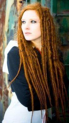 redhead dreads fake but pretty