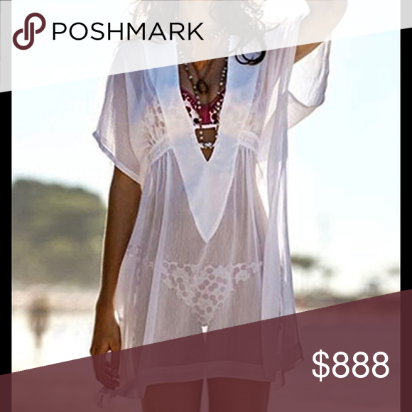 7bdbfdc798b7 ✂️Sheer Beach Cover-up/V-Neck/Loose Fit Slip into this sexy, lightweight  beach wrap made of sheer chiffon, a perfect cover up. Loose fitting, this  wrap ...