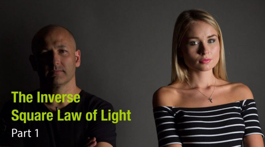 The inverse square law of light