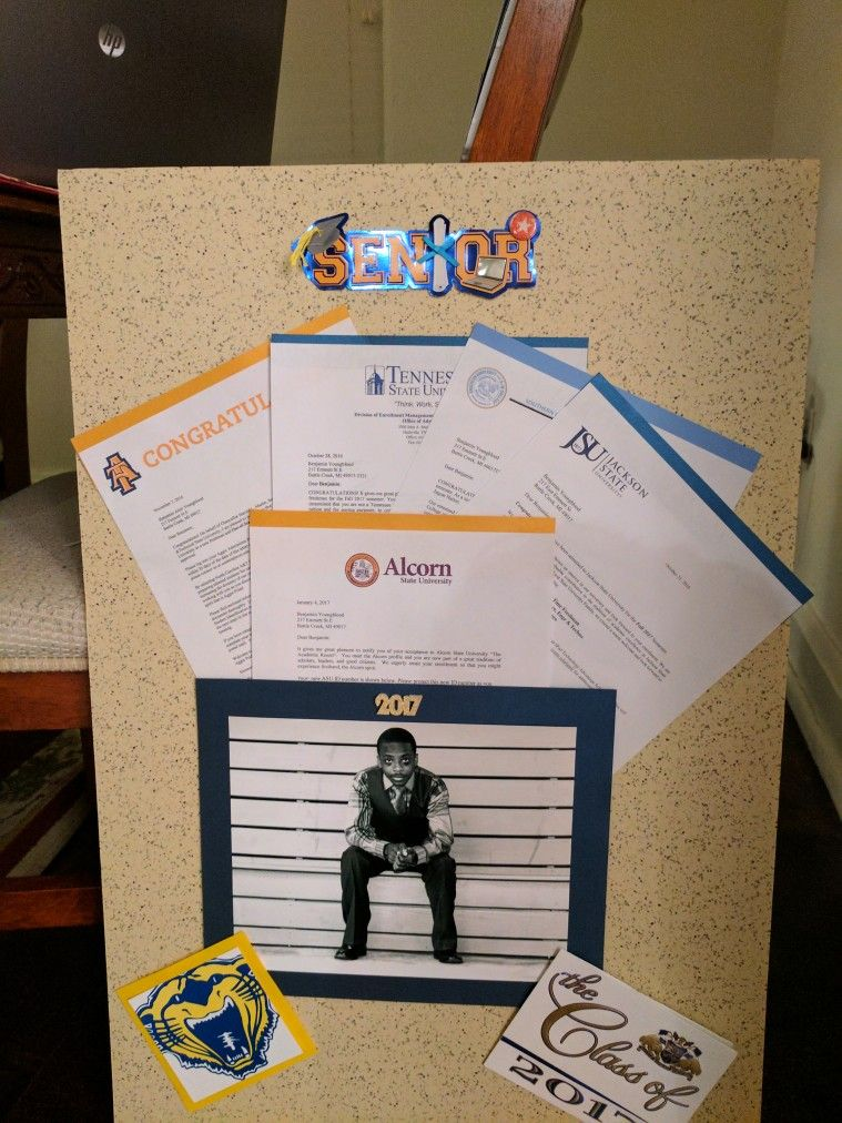 College acceptance letters display Graduation party Pinterest - college acceptance letters