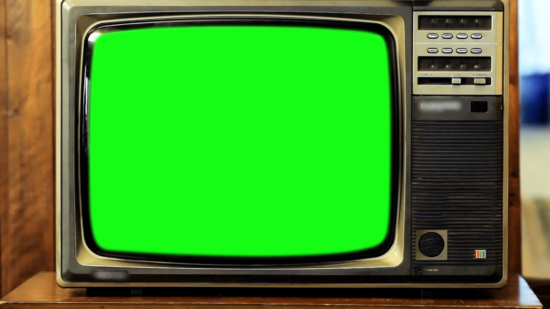 1980s Television With Green Screen Zoom In Really Fast Stock Footage Green Screen Television Stock Greenscreen Chroma Key Screen