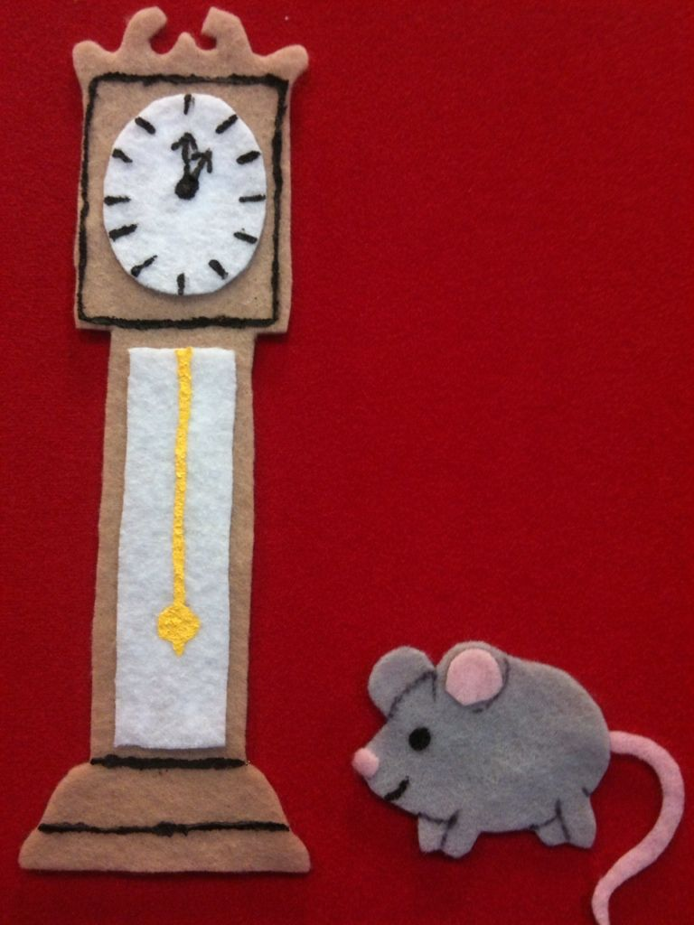 What Happens In Storytime...: Flannel Friday - Hickory Dickory Dock ...