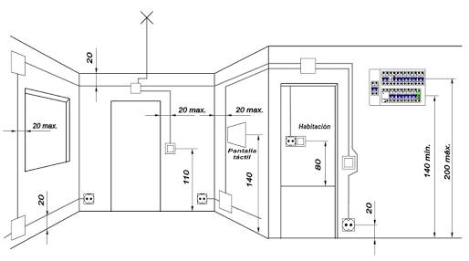 Resultado De Imagen De Plano Electrico Vivienda Altura Enchufes Instalacion Electrica Plano Instalacion Electrica Plano Electrico