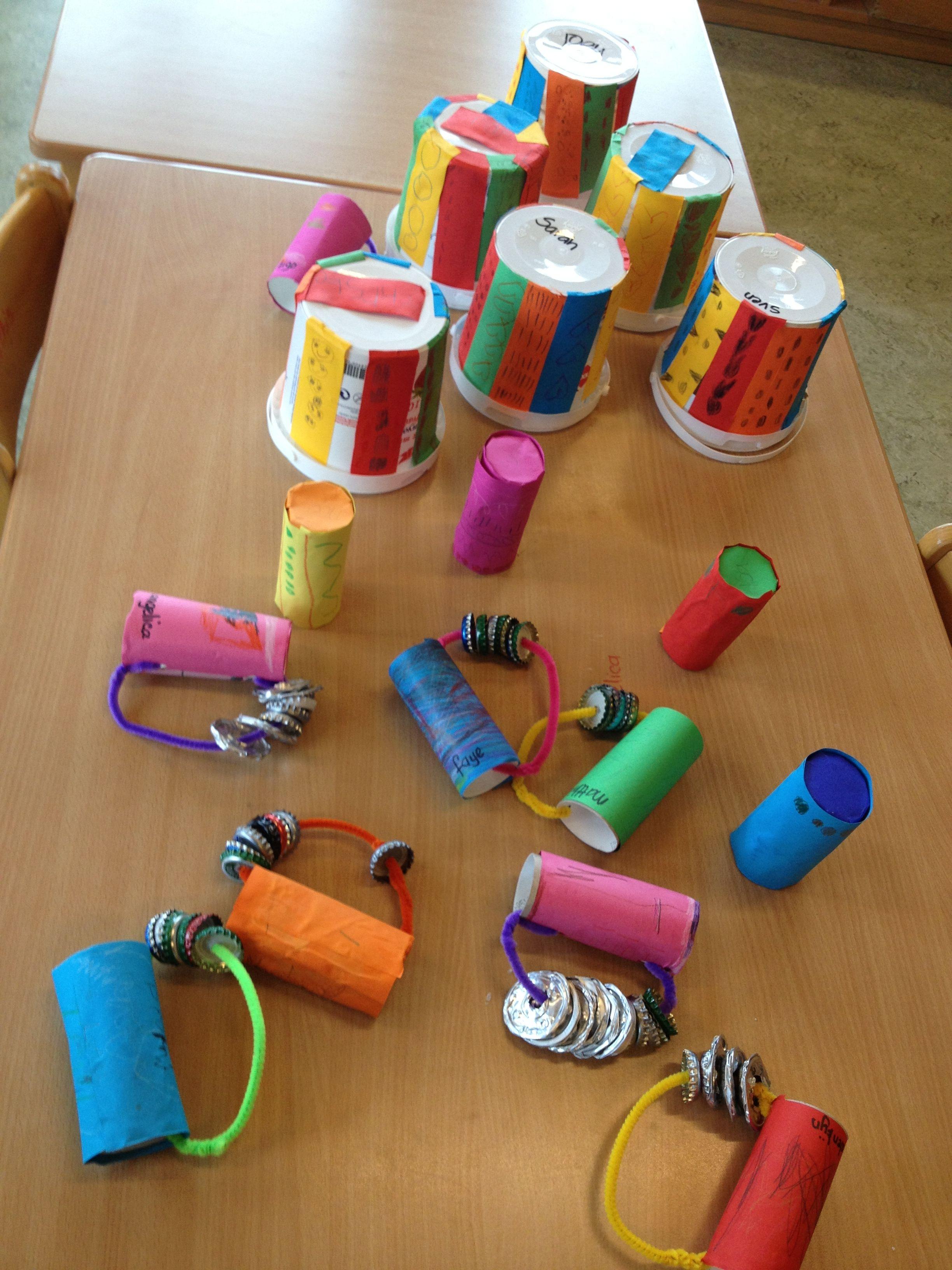 muziekinstrumenten - musical instruments made from recycled