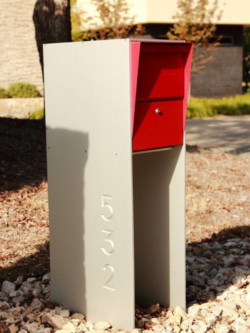 Effigy of mid century modern mailbox design and color options
